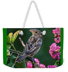 Adorable House Finch Weekender Tote Bag