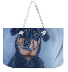 Weekender Tote Bag featuring the painting Adrian by Donna Tuten