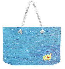 Weekender Tote Bag featuring the painting Adrift by Thomas Blood