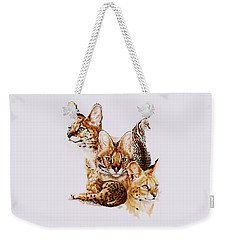 Weekender Tote Bag featuring the drawing Adroit by Barbara Keith