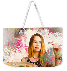 Weekender Tote Bag featuring the photograph Adult Art Class Painter by Jorgo Photography - Wall Art Gallery
