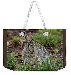 Adult Rabbit Grazing Weekender Tote Bag
