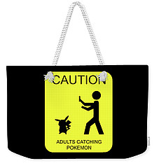 Weekender Tote Bag featuring the digital art Adults Catching Pokemon 1 by Shane Bechler