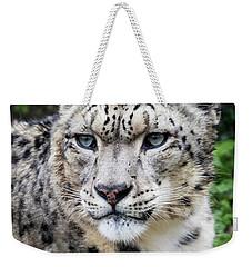 Adult Snow Leopard Portrait Weekender Tote Bag