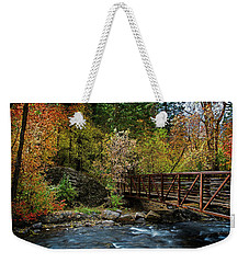 Weekender Tote Bag featuring the photograph Adventure Bridge by Scott Read