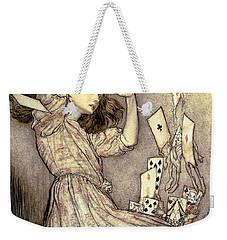 Adventures In Wonderland Weekender Tote Bag by Arthur Rackham