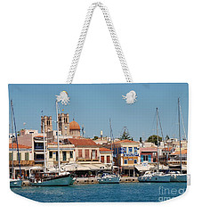 Aegina Town In Greece Weekender Tote Bag
