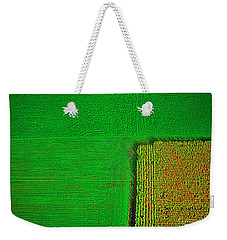 Aerial Farm Mchenry Il  Weekender Tote Bag by Tom Jelen