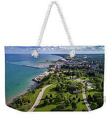 Aerial Of Port Washington Weekender Tote Bag