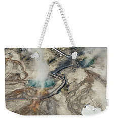 Aerial Photo Of Black Pool And Abyss Pool At West Thumb Gesyer Basin Weekender Tote Bag
