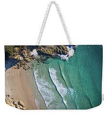 Aerial Shot Of Honeymoon Bay On Moreton Island Weekender Tote Bag