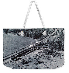 Aerial Train Wreck Weekender Tote Bag