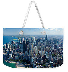 Aerial View Of A City, Lake Michigan Weekender Tote Bag by Panoramic Images