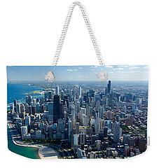 Aerial View Of A City, Lake Michigan Weekender Tote Bag