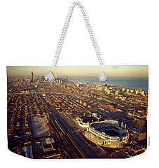 Aerial View Of A City, Old Comiskey Weekender Tote Bag by Panoramic Images