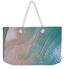 Aerial View Of Beach And Wave Patterns Weekender Tote Bag