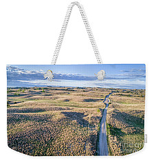 aerial view of Nebraska Sandhills  Weekender Tote Bag