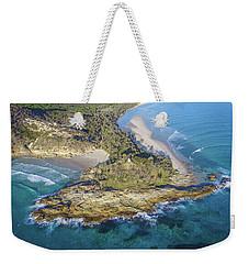 Aerial View Of North Point, Moreton Island Weekender Tote Bag