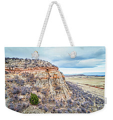 aerial view of northern Colorado foothills  Weekender Tote Bag