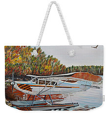 Weekender Tote Bag featuring the painting Aeronca Super Chief 0290 by Marilyn  McNish
