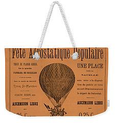 Aerostatique Populaire Weekender Tote Bag