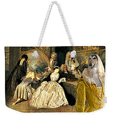 Afghan Hound-at The Artdealer's Shop Canvas Fine Art Print Weekender Tote Bag