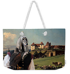 Afghan Hound-falconer And Castle Canvas Fine Art Print Weekender Tote Bag