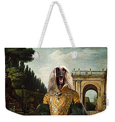 Afghan Hound-the Afternoon Promenade In Rome  Canvas Fine Art Print Weekender Tote Bag