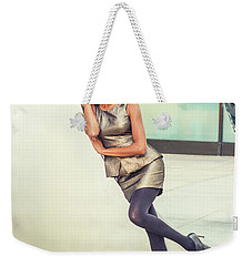 African American Business Woman Fashion In New York Weekender Tote Bag