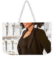African American Businesswoman Working In New York Weekender Tote Bag