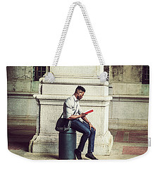 African American College Student Studying In New York Weekender Tote Bag