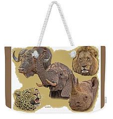 African Big Five Weekender Tote Bag