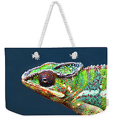 Weekender Tote Bag featuring the photograph African Chameleon by Richard Goldman
