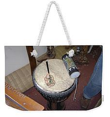 African Drum Weekender Tote Bag