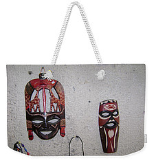 African Face Masks Weekender Tote Bag