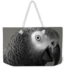 African Gray Weekender Tote Bag by Sandi OReilly