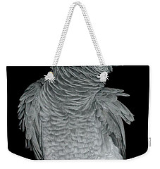 African Grey Parrot Weekender Tote Bag by Debbie Stahre