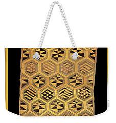 Weekender Tote Bag featuring the digital art African Kuba Cloth Print by Vagabond Folk Art - Virginia Vivier