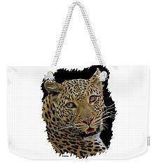 African Leopard Portrait Weekender Tote Bag