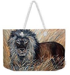 African Lion 2 Weekender Tote Bag