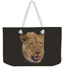 African Lioness Tee Weekender Tote Bag
