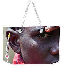 African Maasai Warrior Weekender Tote Bag