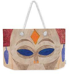 African Mask Weekender Tote Bag