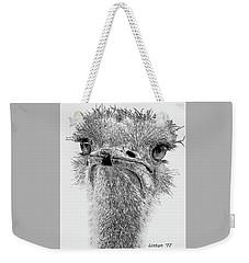 African Ostrich Sketch Weekender Tote Bag