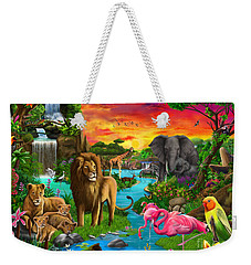 African Paradise Weekender Tote Bag by Gerald Newton