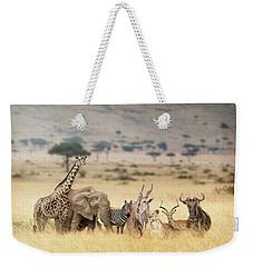 African Safari Animals In Dreamy Kenya Scene Weekender Tote Bag