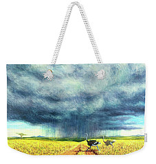 African Storm Weekender Tote Bag by Tilly Willis