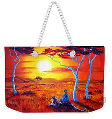 African Sunset Meditation Weekender Tote Bag