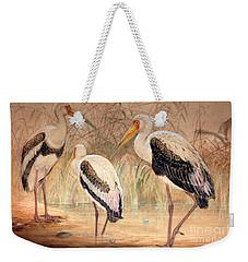African Tantalus Pseudotantalus Ibis Weekender Tote Bag