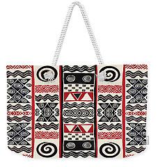 African Tribal Ritual Design Weekender Tote Bag
